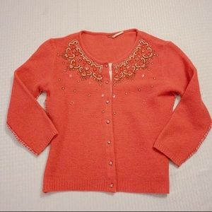 Free People sweater cardigan jeweled embellished s